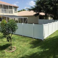 a residential fence contractor doing a new fence installation
